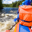 Whitewater rafting — Stock Photo