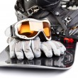 Snowboarding equipment — Stock Photo