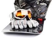 滑雪设备 — 图库照片
