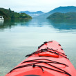 Kayaking in New Zealand - Stock Photo