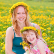 Mother with daughter outdoors — Stock Photo