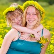 Mother with daughter outdoors — Stock Photo #26071405