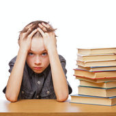 Frustrated child with learning difficulties — Stock Photo