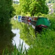 Narrow boats at he Kennet and Avon Canal — Stock Photo