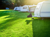 Campsite with caravans — Stock Photo