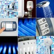Stock Photo: Water heating set