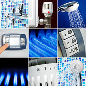 Water heating set — Fotografia Stock