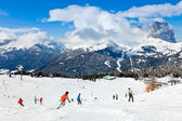 Ski Resort in Dolomites — Foto Stock