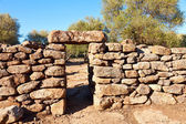 Serra Orrios Nuragic Village entrance — Stock Photo