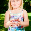Child with glass of water — Stock Photo