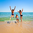 Children on a beach — Stock Photo