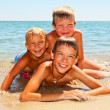 Stock Photo: Children on a beach
