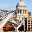 Millennium Bridge with St Pauls Cathedral — Stock Photo