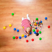Playing toddler — Stock Photo