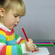 Child drawing — Stock Video #35169249
