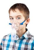 Nebulizatör kullanarak çocuk — Stok fotoğraf