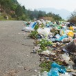 Stock Photo: Roadside dumping