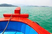 Boat bow cruising — Stock Photo