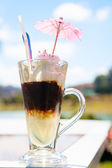 Iced coffee cocktail — Stock Photo
