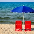 Chairs with umbrella — Stock Photo #41994443