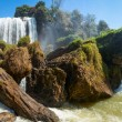 Elephant waterfall in Vietnam panorama — Stock Photo