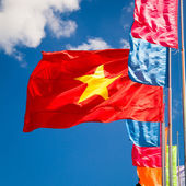 Waving flag of Vietnam — Stock Photo