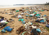 Garbage on a beach — Stock Photo