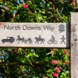 North Downs Way signpost — Stock Photo