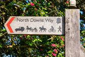 North Downs Way signpost — Stock Photo