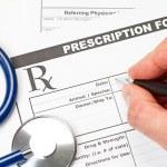 Veterinarian prescription form — Stock Photo #45186279
