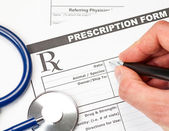 Veterinarian prescription form — Stock Photo