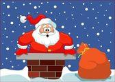 Santa stuck — Stock Vector
