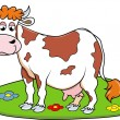 Happy Cow — Stock Vector
