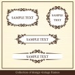Royalty-Free Stock Vector Image: Collection of design vintage frames