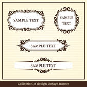 Collection of design vintage frames — Stock Vector