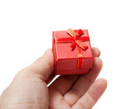 Giving Gift box — Stock Photo
