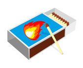 спичечных коробок и матчи — Cтоковый вектор