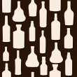 Vector illustration silhouette alcohol bottle seamless pattern — Stock Vector