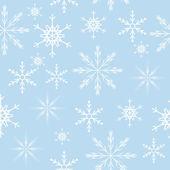 Naadloze sneeuwvlokken achtergrond. vectorillustratie — Stockvector
