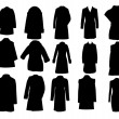 Silhouette coats vector illustration eps10 — Stock Vector #13667334