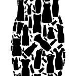 Set of dresses silhouette seamless pattern. vector illustration. — Stock Vector