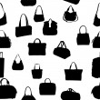 Silhouette bag seamless pattern. vector illustration. EPS 10. — Stock Vector