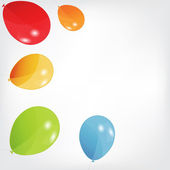 Set of colored balloons, vector illustration. EPS 10. — Stock Vector