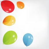 Renkli balon ayarla, illüstrasyon vektör. eps 10. — Stok Vektör
