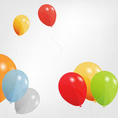 Set of colored balloons, vector illustration. EPS 10. — 图库矢量图片