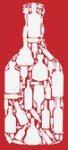 Vector illustration silhouette alcohol bottle — Stock Vector