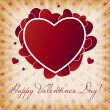 Happy Valentines Day card with heart. Vector illustration — Stock Vector