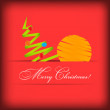 Royalty-Free Stock Imagem Vetorial: Vector  Paper card with  Christmas tree