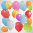 Colored balloons, vector illustration. Eps 10 — Stock Vector #14888451