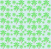 Palm trees seamless pattern. Vector illustration. EPS 10. — Stock Vector
